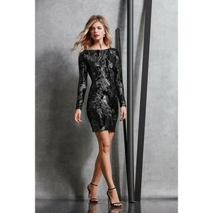 Dress the Population Lola Long Sleeve Sequin Dress